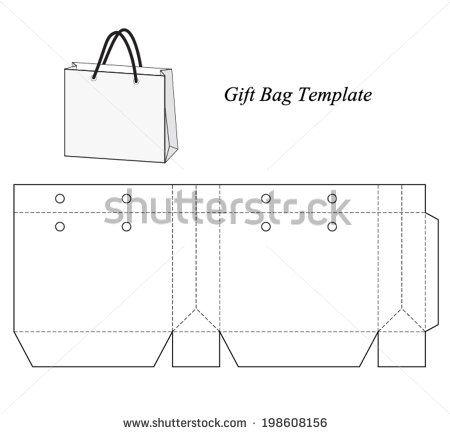 Shopping bag template, vector illustration stock vector