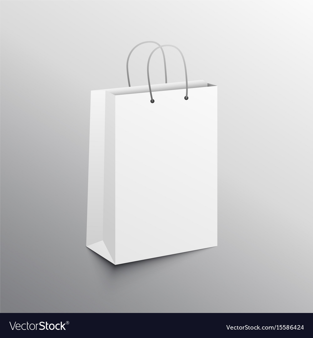 Empty shopping bag mockup design template Vector Image