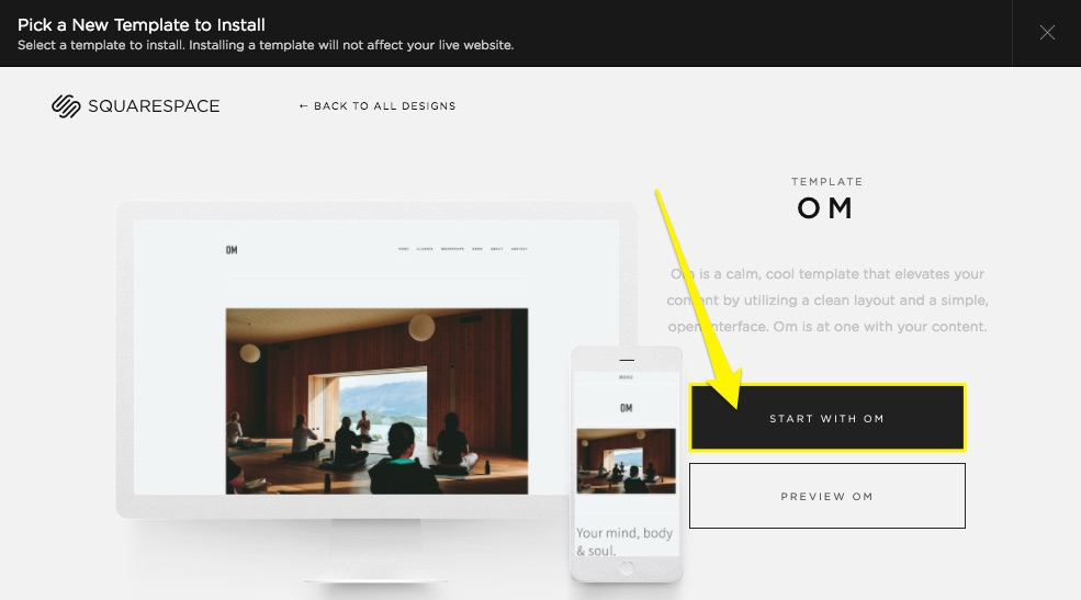Switching templates FAQ – Squarespace Help