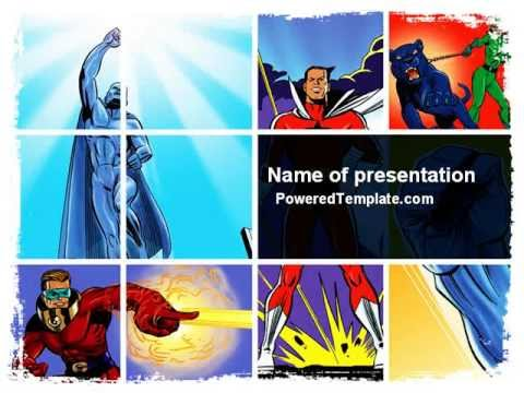 Superheroes PowerPoint Template by PoweredTemplate. YouTube