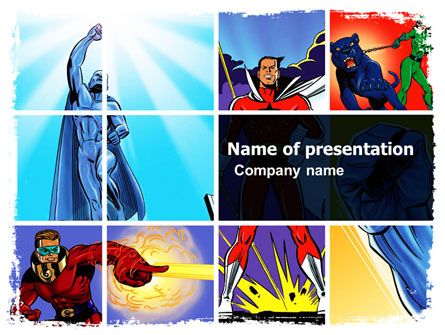 Superheroes Presentation Template for PowerPoint and Keynote | PPT