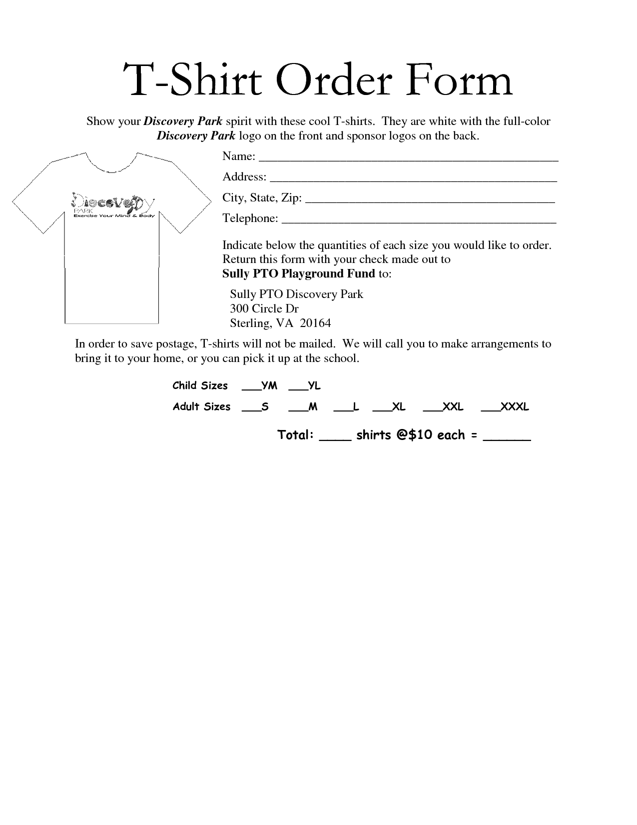 35 Awesome t shirt order form template free images | Projects to