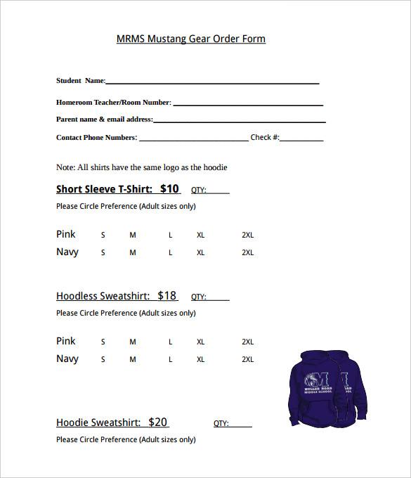 26+ T Shirt Order Form Templates PDF, DOC | Free & Premium Templates