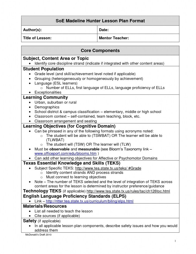 Tennessee Lesson Plan Template Yourpersonalgourmet.com