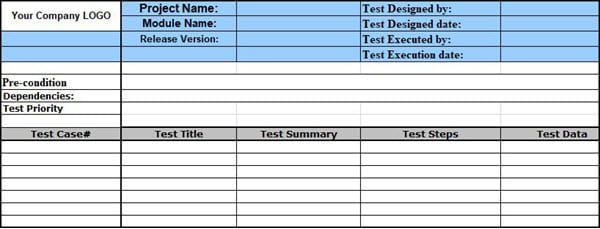 Sample Test Case Template with Test Case Examples [Download]