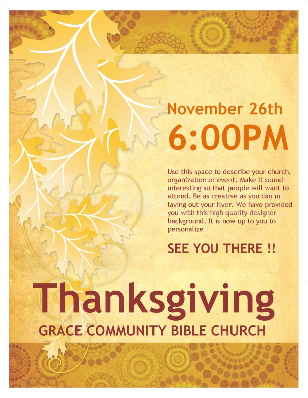 Thanksgiving Church Flyer Template | Flyer Templates
