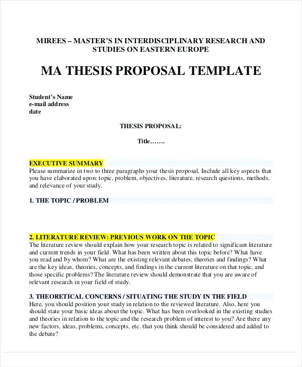 template for thesis proposal thesis proposal template doc pccc