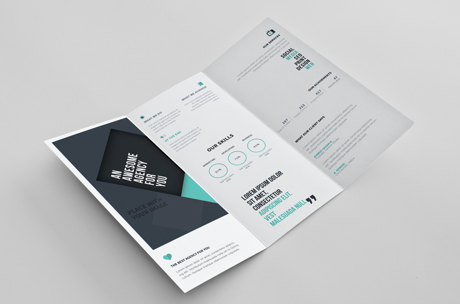 12 Free Tri Fold Brochure Templates for Photoshop & Illustrator