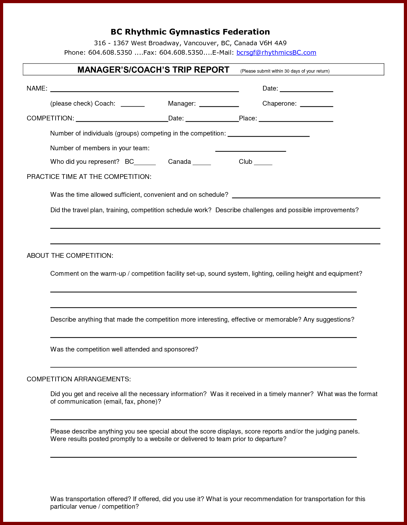 8+ Business Trip Report Examples PDF