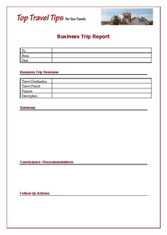 Business Trip Report Template| Business Travel | Top Travel Tips.com