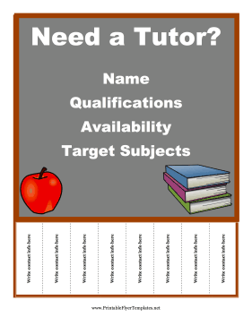 FREE Flyer Templates all sorts to choose from. This one: Tutoring