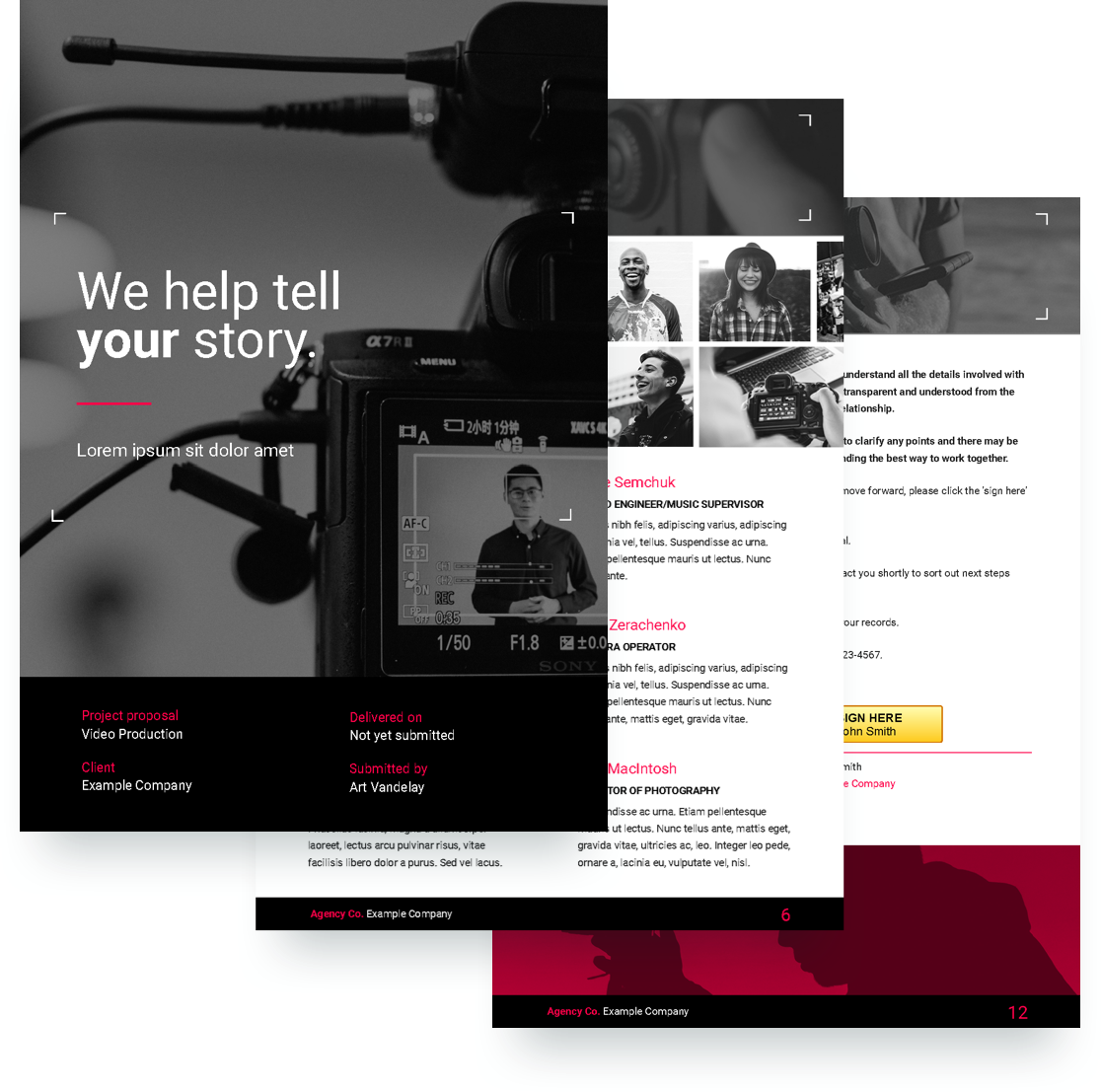 Video Proposal Template Free Sample | Proposify