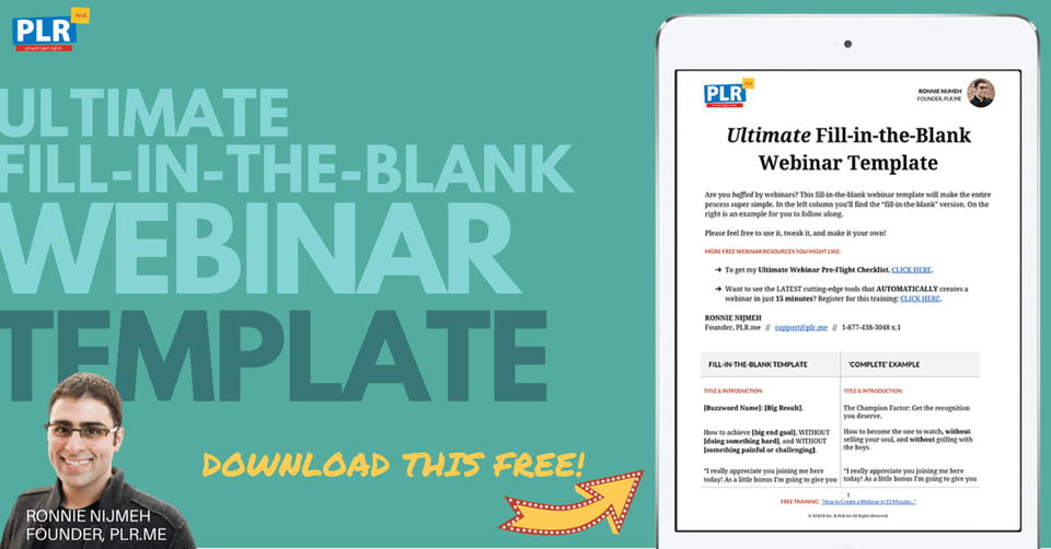 Free Webinar Template Download: 12 Ingredients to a $245,540.74