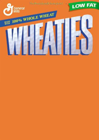 On the Front of a Wheaties Box Dryden Art