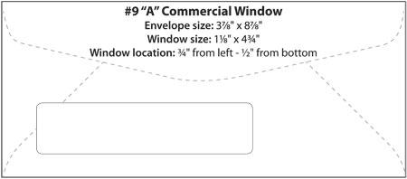 Printed #10 Window Envelopes Custom w/ Return Address