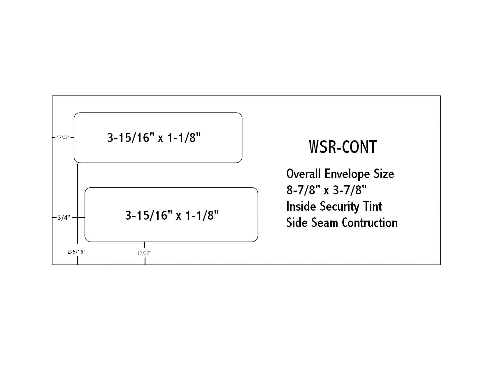 Envelope Templates Commercial Window Envelope Template | WSEL
