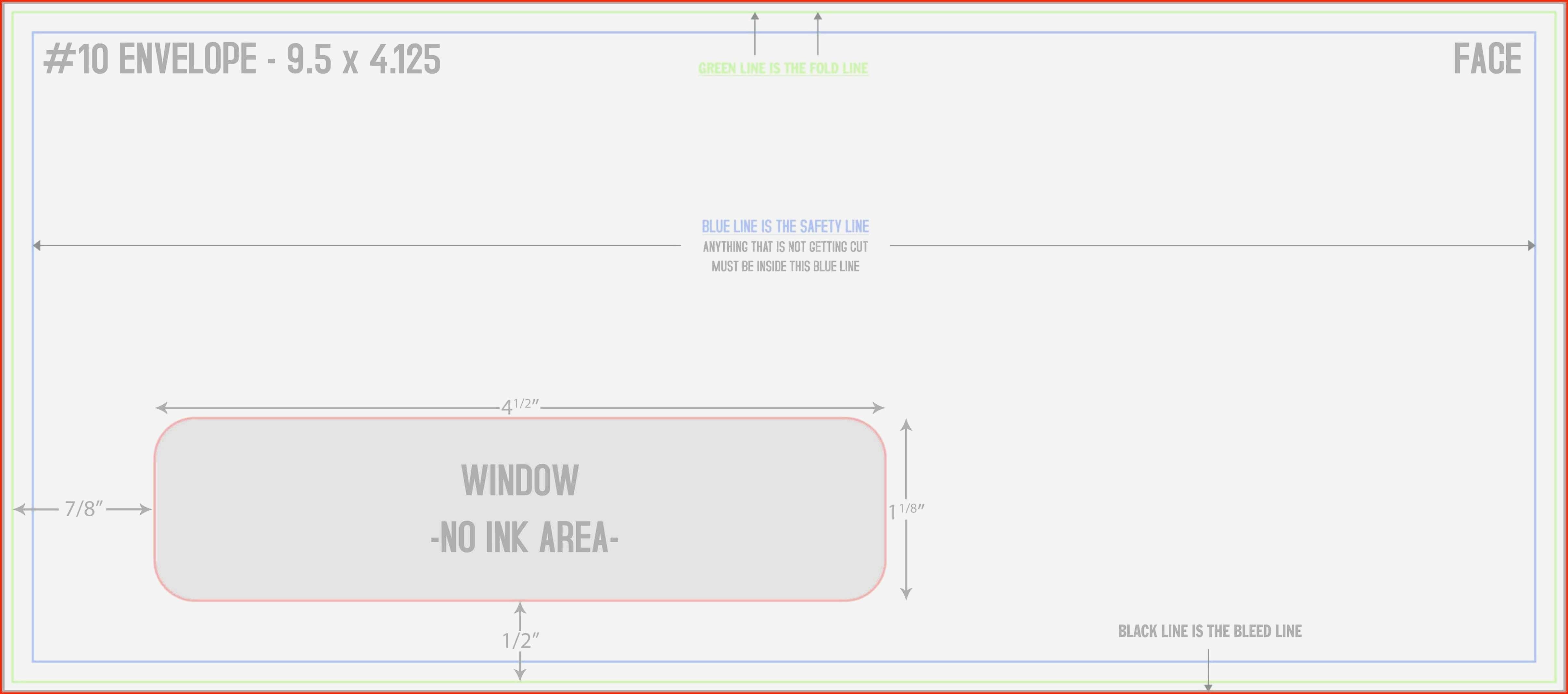 Unique 10 Window Envelope Template | Template Vectors